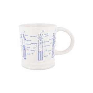 Star Wars Lightsaber Blueprint Mug
