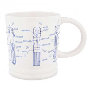 Star Wars Lightsaber Blueprint Mug