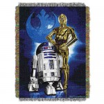 C-3PO and R2-D2 Woven Tapestry Throw - Star Wars