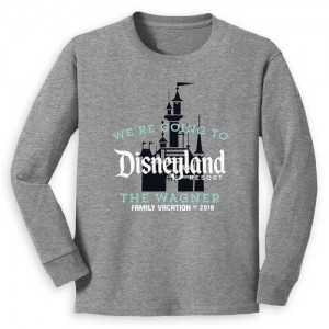 Disneyland 2019 Family Vacation Long Sleeve Shirt for Kids - Customized