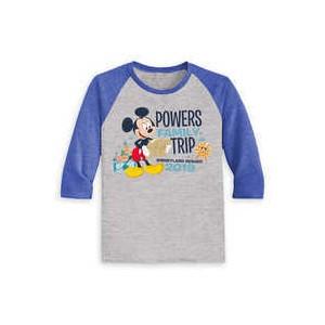 Mickey Mouse Family Vacation Raglan Shirt for Kids - Disneyland 2019 - Customized