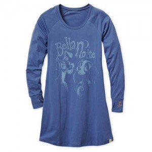 Lady and the Tramp Long Sleeve Nightshirt for Women by Munki Munki
