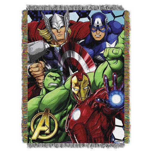 디즈니 Avengers Woven Tapestry Throw