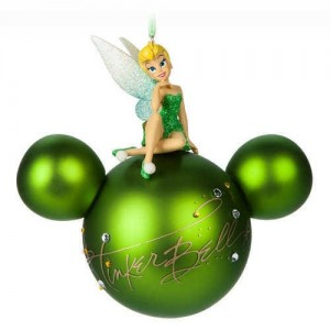 Tinker Bell Mickey Mouse Head Ornament