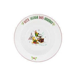 Santa Minnie Mouse and Friends Holiday Serving Bowl