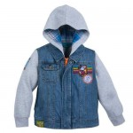 Mickey Mouse Hooded Denim Jacket for Boys