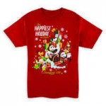 Mickey Mouse and Friends Holiday T-Shirt for Adults - Disneyland