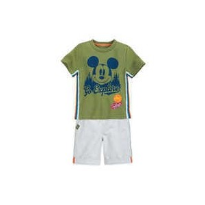 Mickey Mouse Shirt and Shorts Set for Boys