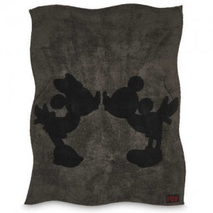 Mickey and Minnie Mouse Throw by Barefoot Dreams - Carbon