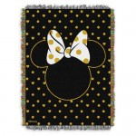 Minnie Mouse Icon Woven Tapestry Throw