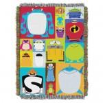 PIXAR Character Blocks Woven Tapestry Throw