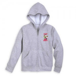 Santa Mickey Mouse and Friends Holiday Zip Hoodie for Kids - Disneyland