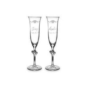 Walt Disney World Glass Flutes by Arribas - Personalizable