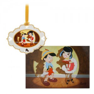 Pinocchio Artist Series Sketchbook Ornament and Lithograph Set - Limited Edition