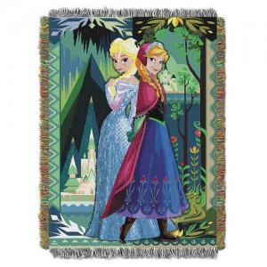 Frozen Woven Tapestry Throw