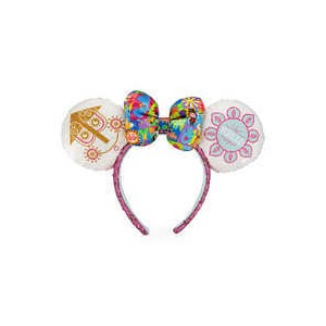 Minnie Mouse Sequined Ear Headband with Satin Bow - Disney its a small world