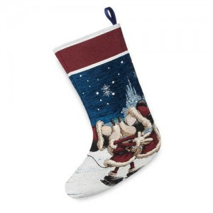 Santa Mickey and Minnie Mouse Holiday Stocking