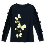 Minnie Mouse Bow La La Long Sleeve Shirt for Women