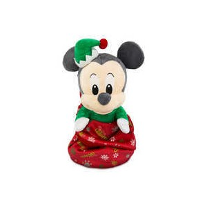 Mickey Mouse My First Christmas Plush with Blanket Pouch - Disney Babies - Small