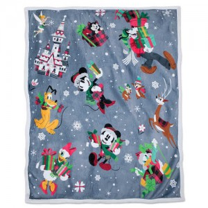 Santa Mickey Mouse and Friends Reversible Throw