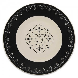 Mickey Mouse Icon Dessert Plate - Disney Dining Collection - Black / White
