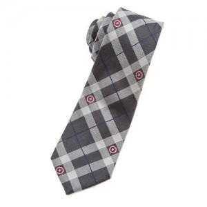 Captain America Silk Plaid Tie for Adults