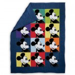 Mickey Mouse Color Block Mickey Quilt by Ethan Allen