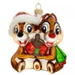 Chip n Dale Glass Ornament