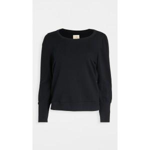 Cotton Fleece Puff Sleeve Pullover