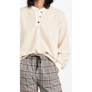 Mini Sherpa Henley Sweatshirt