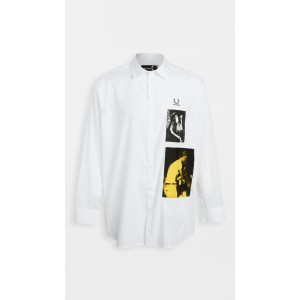 Raf Patched Oversized Shirt