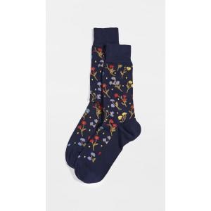 Men Sock Pistil Floral Socks