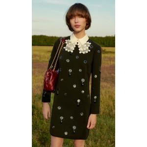 Jewel Embroidered Shift Dress