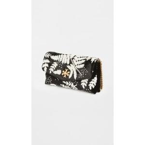 Kira Embroidered Velvet Chain Wallet