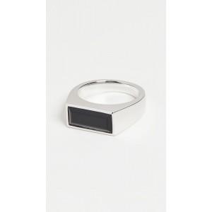 Peaky Ring Polished Black Onyx