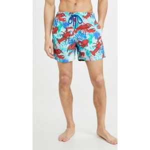 Lobster and Coral Moorea Swim Trunks