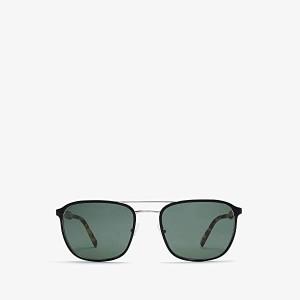 Prada 0PR 75VS Matte Black/Shiny Gunmetal/Green