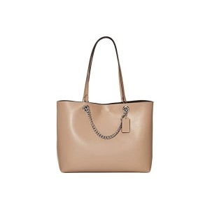 COACH Signature Chain Convertible Tote LH/Taupe
