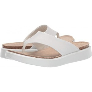 ECCO Corksphere Thong White Cow Leather