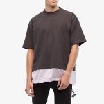 MARNI Mixed Media Heavy Cotton Toggle T-Shirt Grey