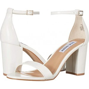 Steve Madden Exclusive - Declair Block Heeled Sandal White Leather