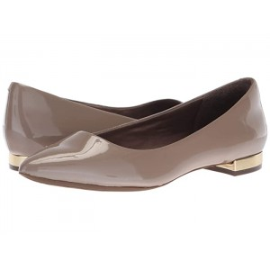 Total Motion Adelyn Ballet Taupe Grey Pearl Patent