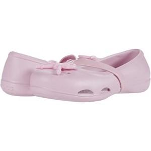 Crocs Kids Lina Bow Charm Flat (Toddleru002FLittle Kid) Ballerina Pink
