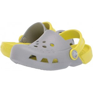 Crocs Kids Electro (Toddleru002FLittle Kid) Light Grey/Citrus