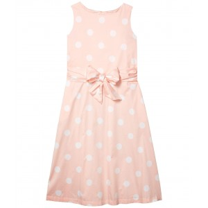 Dress with Attached Sash Cherry Blossom/White
