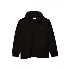 Lacoste Long Sleeve Solid Full Zip with Silicon Croc & Lacoste Badge at Back Motion Black