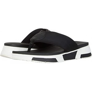 FitFlop Sporty Logo Toe-Thong Black