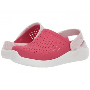 LiteRide Clog (Little Kid/Big Kid) Poppy/White
