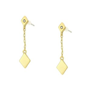 Diamond Shape Delicate Drop Earrings