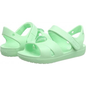 Crocs Kids Classic Cross Strap Sandal (Toddleru002FLittle Kid) Neo Mint